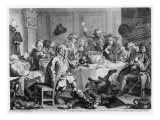 A Midnight Modern Conversation, from 'The Works of William Hogarth', 1733 Giclee Print by William Hogarth