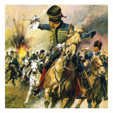 The Valley of Death - the Charge of the Light Brigade Giclee Print by  English School