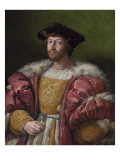 Portrait of Lorenzo De Medici, Duke of Urbino, Holding a Gold Box, C.1518 Impression giclée par  Raphael