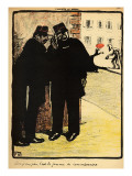 Two Policemen Hide from the Commissioner's Wife, from 'Crimes and Punishments' Giclée-Druck von Félix Vallotton