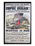 Federal Recruiting Poster for the Second Regiment, Empire Brigade Premium Giclee Print by  American School