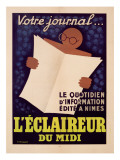 Poster Advertising 'L'Eclaireur Du Midi' Newspaper, C.1939 Giclee Print by J.M. Bompard