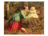 The Path Where the Brown Leaves are Spread, 1862 Giclee Print by Frederick Richard Pickersgill