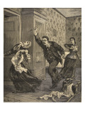 A Drama of Alcoholism, from 'Le Petit Parisien', 29th March 1891 Giclee Print by Beltrand and Clair-Guyot, E. Dete