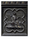 Justice, Panel G of the South Doors of the Baptistery of San Giovanni, 1336 Giclee Print by Andrea Pisano