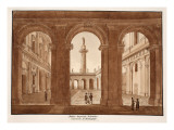 The Palazzo Imperiali Valentini. Archaeological Restoration., 1833 Giclee Print by Agostino Tofanelli