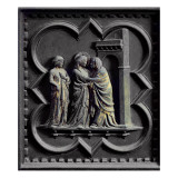 The Visitation, Third Panel of the South Doors of the Baptistery of San Giovanni, 1336 Giclee Print by Andrea Pisano