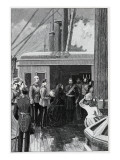 The Queen Investing Abdul Aziz with the Order of the Garter, 1881 Giclee Print by William Barnes Wollen