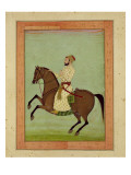 A Mughal Noble on Horseback, C.1790, from the Large Clive Album Giclee Print by  Mughal School