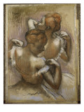 Two Dancers Adjusting their Shoulder Straps, C.1897 Giclee Print by Edgar Degas