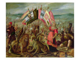 Allegory of the Turkish Wars: the Battle of Kronstadt Reproduction procédé giclée par Hans von Aachen