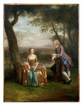 Portrait of a Couple, Possibly Daniel and Mary Swaine of Leverington Hall Giclee Print by Arthur Devis