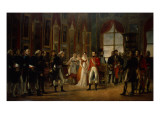 Napoleon Receiving the Senators and Declaring Himself Emperor, 18th May 1804 Giclée-tryk af  Rouget