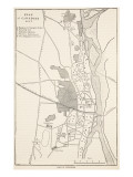 Plan of Cawnpore 1857, from 'Cassell's Illustrated History of England' Giclee Print by  English School