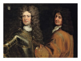 Double Portrait of the Artist with Brigadier-General Robert Killigrew Giclée-Druck von Antonio Verrio