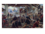 The Defence of the Trinity Sergius Cloister in Zagorsk, 1892 Giclee Print by Sergei Dmitrievich Miloradovich