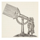 Dioptric Telescope, Copy of an Engraving by Boris Mestchersky Giclee Print by French School