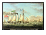 The Steam Packet 'saint Patrick' on the Liverpool to Dublin Run, 1827 Premium Giclee Print by Miles Walters
