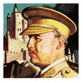 General Franco. President and Dictator of Spain. Giclee Print by  English School