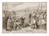 Pilgrims under Escort of Knights Templars, in Sight of Jerusalem Premium Giclee Print by Edouard Zier