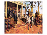 General Lee and His Horse 'Traveller' Surrenders to General Grant Giclee Print by McConnell