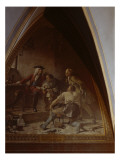 Boettger Shows August the Strong the Secret of Making Porcelain Giclee Print by Johann Paul Adolf Kiessling