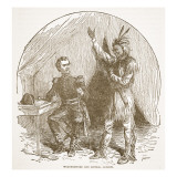 Weathersford and General Jackson, from a Book Pub. 1896 Giclee Print by American School