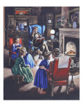 Growing Up Through the Ages: the Poor Little Rich Girls of Britain Giclee Print by Ron Embleton