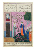 The King Bids Farewell', Poem from the Shiraz Region, C.1470-90 Premium Giclee Print by  Persian School