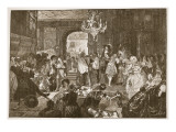 The Ante-Chamber, Whitehall, During the Dying Moments of Charles Ii Giclee Print by Edward Matthew Ward