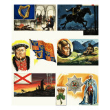 National Symbols of Britain: Northern Ireland Giclee Print by  Escott