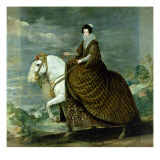 Equestrian Portrait of Elisabeth De France, Wife of Philip Iv of Spain Giclee Print by Diego Rodriguez de Silva y Velazquez