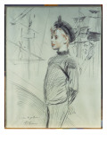 Portrait of a Young Boy in a Sailor Hat and Turtle-Neck, with Ships in the Background Giclee Print by Paul César Helleu