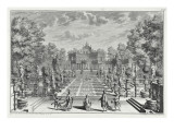 Setting for an Opera in a Garden, from 'Architectus Theatralis Primarius' Giclee Print by Giuseppe Bibiena