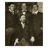 Francisco Madero and Three of His Sons, Gustavo, Gabriel and Evaristo, at the Astor Hotel Giclee Print by  Thompson