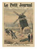 Pulling Down One of the Last Windmills on the Butte Montmartre Giclee Print by  French School