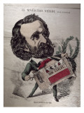 Il Maestro Verdi', Caricature of the Italian Composer Giuseppe Verdi Giclee Print by Baril Gedeon
