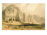 Petra, March 8th 1839, Plate 96 from Volume Iii of 'The Holy Land', Engraved by Louis Haghe Premium Giclee Print by David Roberts