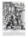Allegory of a Design Studio, Engraved by Nicolas Dorigny Giclee Print by Carlo Maratti