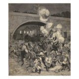 The Saint-Mande Train Collision, from 'Le Petit Parisien', 2 August 1891 Giclee Print by Beltrand and Clair-Guyot, E. Dete