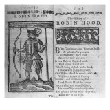 Frontispiece and Opening Lines to 'The History of Robin Hood' Giclee Print by  English School