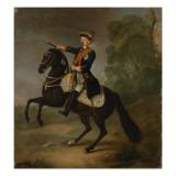 Kurt Christoph Graf Von Schwerin on Horseback, 1750 Giclee Print by  Pesne