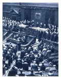 Swearing-In Ceremony of Reichspresident Field Marshal Von Hindenburg Giclee Print by  German photographer