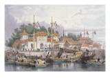 Military Station of the Chinese Near the City of Chokian, C.1850 Giclee Print by Thomas Allom