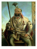 Portrait of Maharaja Sher Singh, in Regal Dress, C.1850 Giclee Print by August Theodor Schoefft