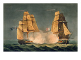The Capture of La Nereide, December 21st 1797, Engraved by Thomas Sutherland Giclee Print by Thomas Whitcombe