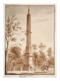 The Passeggiata Obelisk, from the Circus of Flora, 1833 Giclee Print by Agostino Tofanelli