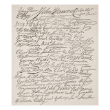 Signatures to the Declaration of Independence, 1776 Giclee Print by  American School