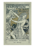 Catalogue Cover for the 1st Exhibition of Decorative Art in Paris, January 1901 Giclee Print by Eugene Grasset