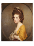 Portrait of Dorothy Hodges, Half Length, in a Yellow Dress Giclee Print by Joseph Wright of Derby